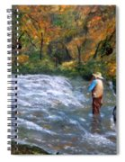 Fishing In The Fall Spiral Notebook
