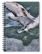 Fishing In The Foam Spiral Notebook