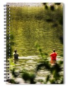 Fishing In The Pond Spiral Notebook