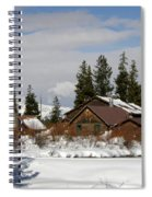 Fishing Lodge In The Winter Spiral Notebook