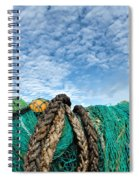 Fishing Nets And Alto-cumulus Clouds Spiral Notebook