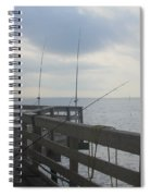 Fishing Off Rodanthe Pier Spiral Notebook