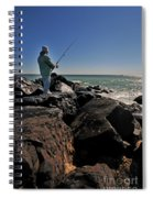 Fishing Off The Jetty Spiral Notebook