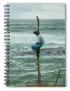 Fishing On A Pole Spiral Notebook