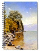 Fishing On Lac Leman Spiral Notebook