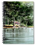 Fishing On Lazy Days - Aucilla River Florida Spiral Notebook