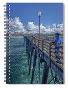 Fishing On Oceanside Pier Spiral Notebook
