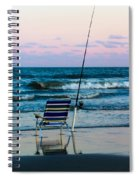 Fishing On The Beach Spiral Notebook