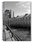 Fishing On The Harbor Spiral Notebook