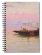 Fishing On The Lagoon, Venice, C.1890 Spiral Notebook