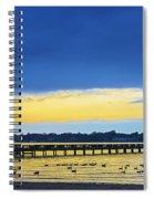 Fishing Pier At Sunset Spiral Notebook