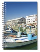 Fishing Port In Jaffa Tel Aviv Israel Spiral Notebook