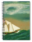 Fishing Schooner Josephine On The Grand Banks Spiral Notebook