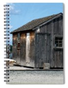 Fishing Shack On The Mystic River Spiral Notebook