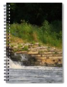 Fishing The Spillway Spiral Notebook