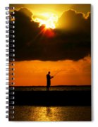 Fishing The Sun Spiral Notebook