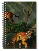 Fishing Tigers Spiral Notebook