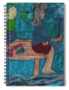 Fishing Under The Evening Sky On A Cool Autumn Night Spiral Notebook
