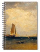 Fishing Upon The Blythe-sand Spiral Notebook