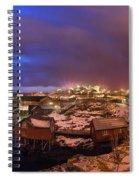 Fishing Village At Night, Lofoten Spiral Notebook