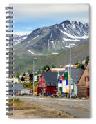 Fishing Village In Iceland Spiral Notebook