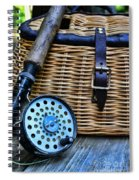 Fishing - Vintage Fly Fishing Spiral Notebook