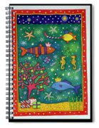 Fishy Christmas, 1997 Wc And Pastel On Paper Spiral Notebook