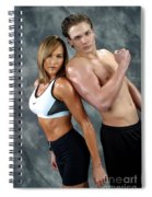 Fitness Couple 43 Spiral Notebook
