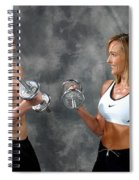 Fitness Couple 9 Spiral Notebook
