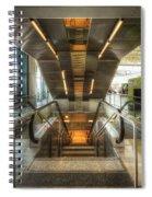 Fiumicino Airport Escalator Spiral Notebook