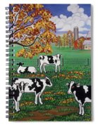 Five Black And White Cows Spiral Notebook