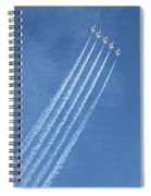 Five F-16 Fighting Falcons Reaching For Some Sky Spiral Notebook