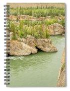 Five Finger Rapids Rocks Yukon River Yt Canada Spiral Notebook
