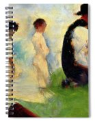 Five Male Figures Possible Preparatory Sketch For The ''bathers At Asnieres.'' Spiral Notebook