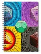 Five Platonic Solids - Fire Spiral Notebook