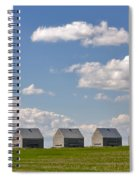 Five Sheds On The Alberta Prairie Spiral Notebook