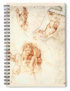 Five Studies For The Figure Of Haman Spiral Notebook