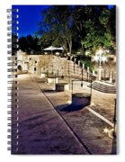 Five Well Square In Zadar Evening View Spiral Notebook