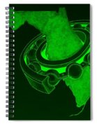 Fla Sprocket Green Spiral Notebook
