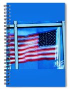 Flag Abstract Reflection Spiral Notebook