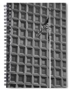Flag And Windows In Black And White Spiral Notebook