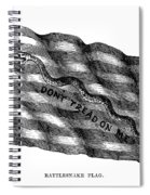Flag: Dont Tread On Me Spiral Notebook