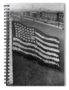 Flag Formation, C1917 Spiral Notebook