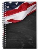 Flag On Blackboard Spiral Notebook