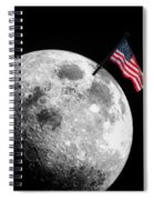 Flag On The Moon Spiral Notebook