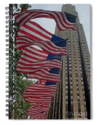 Flags At Rokefeller Plaza Spiral Notebook