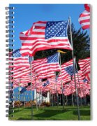 Flags Of Glory Spiral Notebook