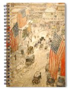 Flags On 57th Street Spiral Notebook