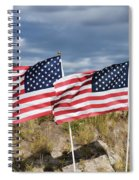 Flags On Antelope Island Spiral Notebook