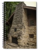 Flagstone Fireplace Spiral Notebook